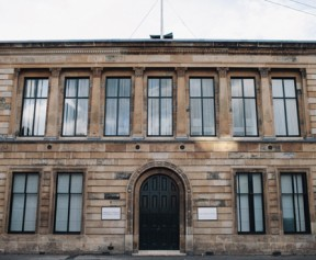 SURF's main office is a former police station in Govan, Glasgow