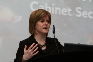 Nicola Sturgeon, who is leading the Procurement Reform Bill, speaking at a SURF event in 2009