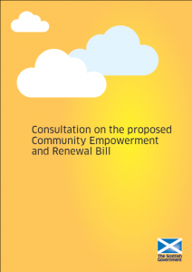 The Scottish Government published a consultation paper on the Community Empowerment and Renewal Bill in 2012