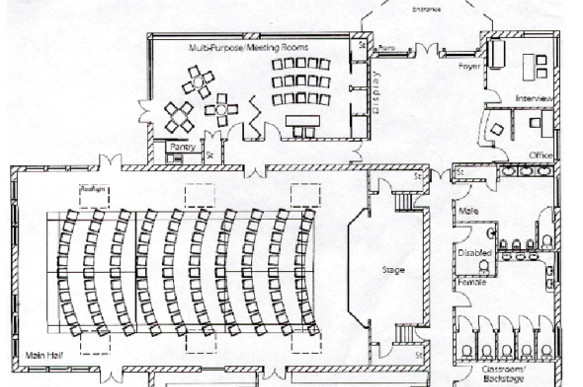 Community Hall Floorplan