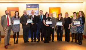 Representatives of all 2014 SURF Award winners with Paul Wheelhouse MSP