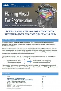 The second draft of SURF's 2015 manifesto was circulated in August 2015