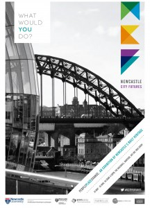 A Newcastle City Futures exhibition poster