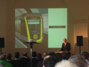 One evening event discussed the future of the TYne & Wear Metro