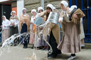 The street play 'Squalor', a 'Secret Fridays' cultural event in the town of Liskeard
