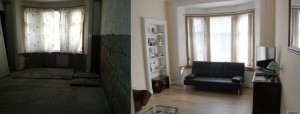 An empty home in Dumbarton before and after refurbishment
