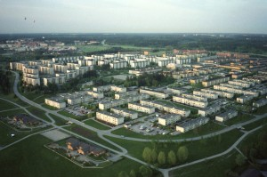 The Rinkeby neighbourhood in Stockholm, a Million Homes area with a high immigrant population