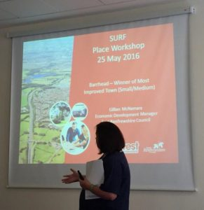 The event series included a workshop on place-based regeneration