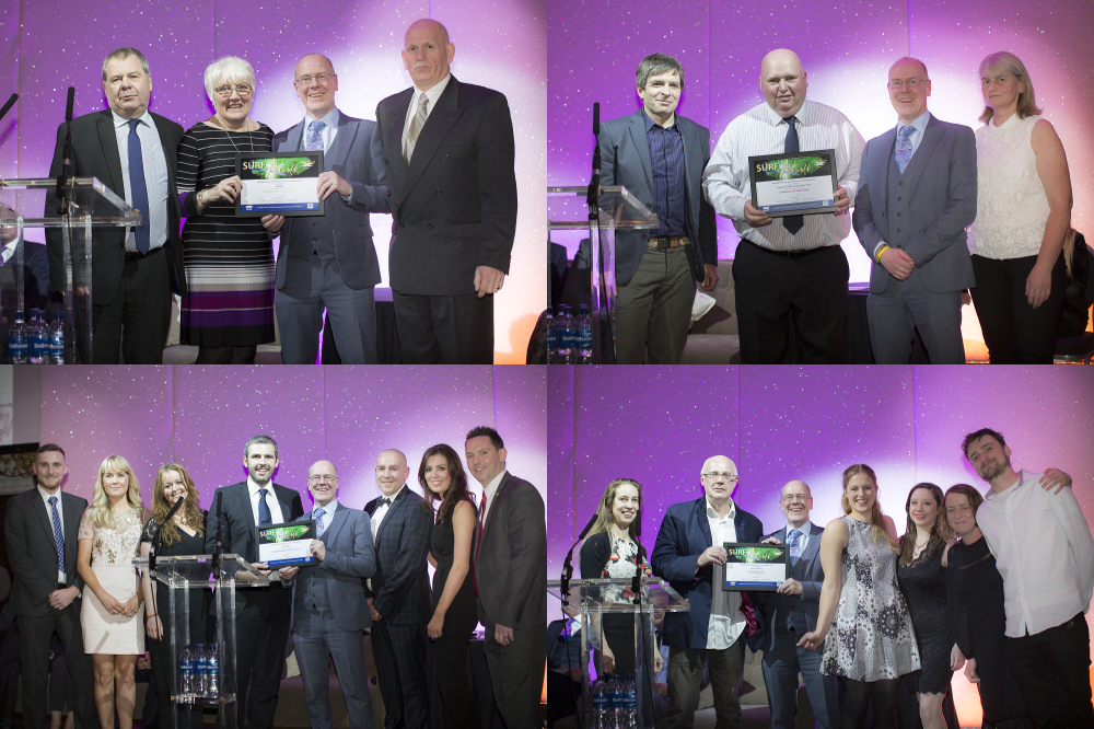 Project winners collected SURF Awards from Kevin Stewart MSP